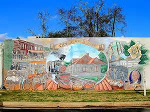 historic painting of woodstock GA